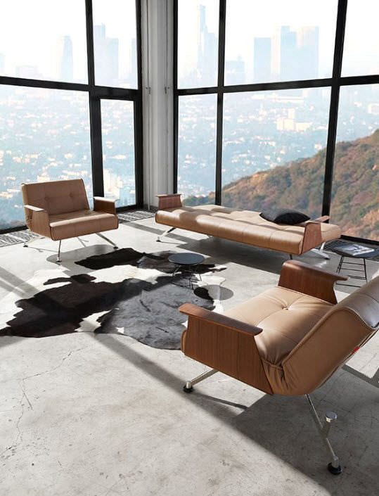 Contemporary armchair / indoor